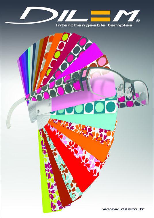 Die Dilem Brillen mit Wechselbügel bieten die Möglichkeit von über 450.000 Kombinationsmöglichkeiten.