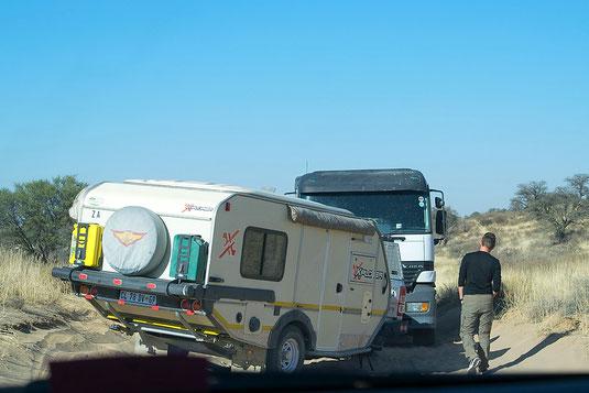 Autofahren im Kgalagadi Transfrontier NP