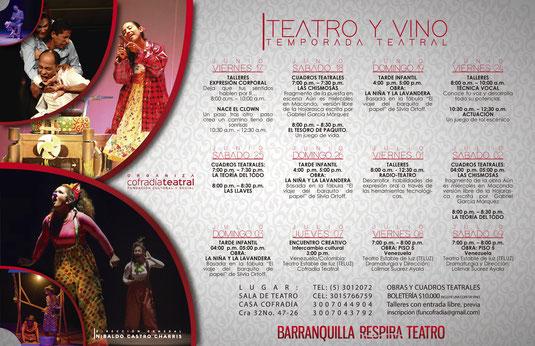 Teatro y vino, temporada teatral de vacaciones en La Cofradía