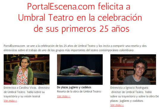 PortalEscena.com felicita a Umbral Teatro en la celebración de sus primeros 25 años