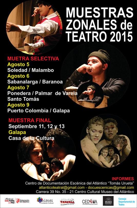 Muestras zonales de teatro en el Atlántico 2015