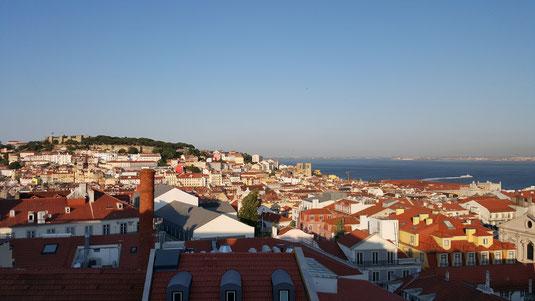 Bild: Blick über Lissabon während Besuch von Daniel und Eva-Maria Morent