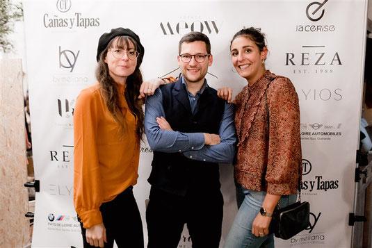 Ines et Lila de l'Agence MEOW avec Yves de Dress Me Up lors de l'événement l'automne de Dress Me Up x Agence MEOW
