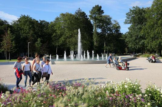 Kaiser-Karls-Park mit seiner Niewels-Fontäne © Stadt Bad Lippspringe