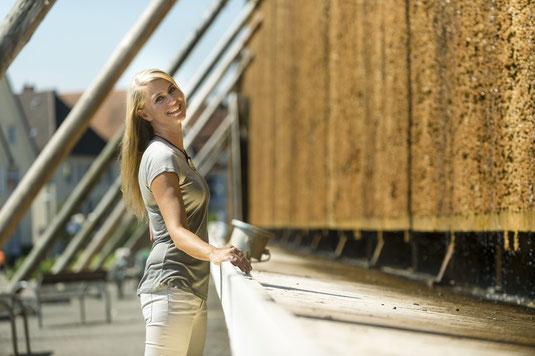 Am Gradierwerk tief durchatmen und neue Energie atmen   © Staatsbad Salzuflen GmbH