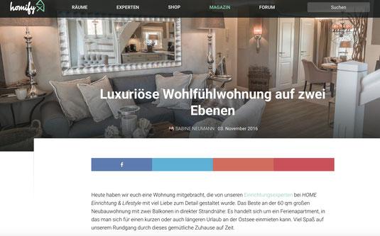 Homify Berichtet Uber Unsere Ferienwohnung In Scharbeutz Home In