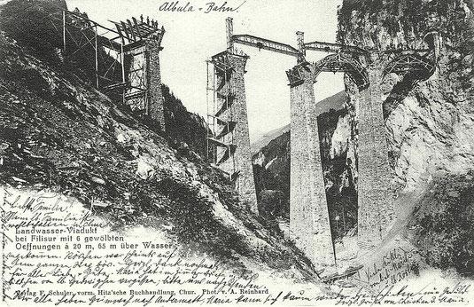 Verlag F. Schuler vorm. Hitz'sche Buchhandlung Chur, Photo A. Reinhard, gestempelt 05. September 1902