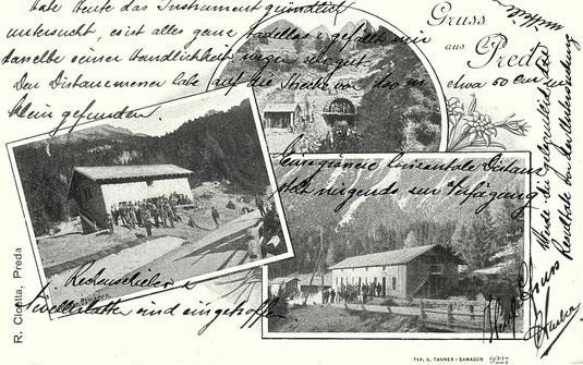 R. Cloetta Preda, Verlag Simon Tanner Samedan, gestempelt 28.06.1904