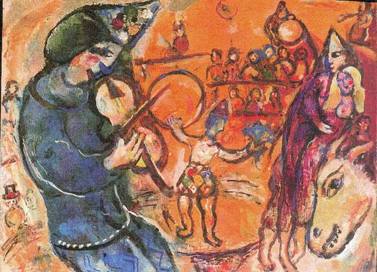 Marc Chagall  Le cirque d'Izis 4, 1965