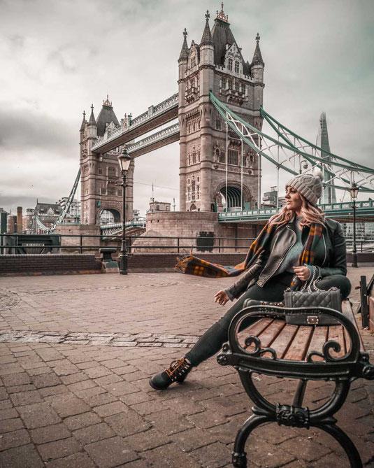 Zu sehen ist die Tower Bridge in London welche einer der beliebsten Fotolocations ist