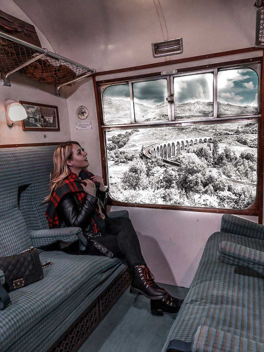 Ein Foto im Hogwarts Express