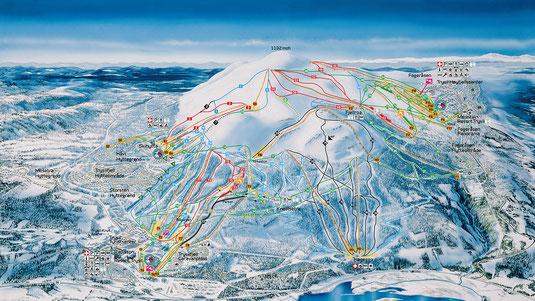 Skigebiete Norwegen