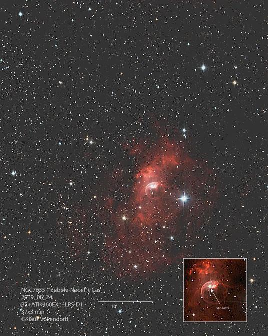 "NGC 7635 im Sternbild Cassiopeia mit 8"" f3.6, ATIK460EXc+LPS-D1"
