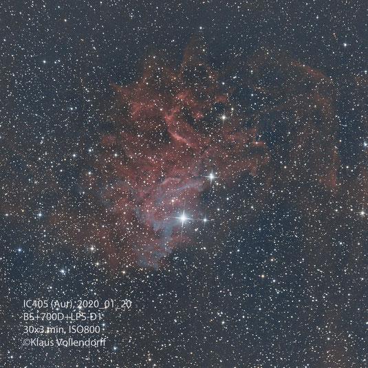 "IC405 im Sternbild Aurigae (Fuhrmann) mit 8"" f3.6, CANON700D mod+LPS-D1"