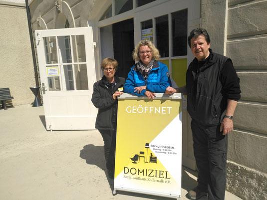 Anne Wahl (Kassenprüfer), Nathalie Hahn (1. Vorstand), Peter Blechmann (2. Vorstand)
