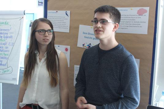 Jana und Lukas bei der Auftaktveranstaltung der Think Big Upgrate Projekte in München
