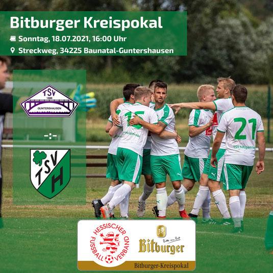 TSV Heiligenrode Gruppenliga Kassel Bitburger Kreispokal Guntershausen