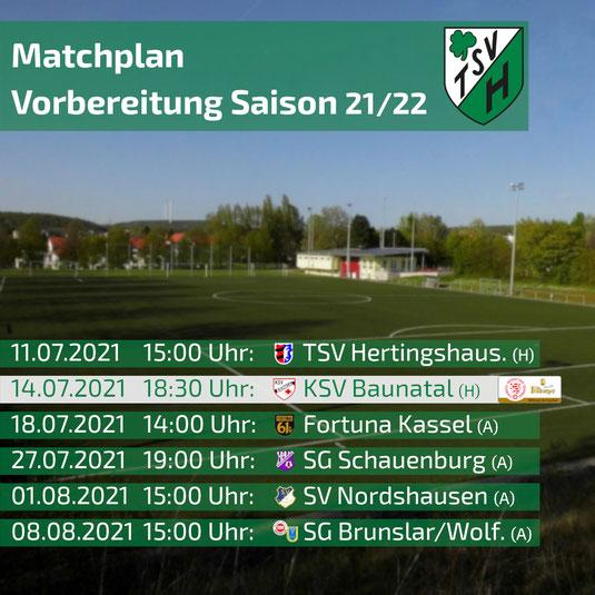 TSV Heiligenrode Gruppenliga Kassel Testspiele Vorbereitung