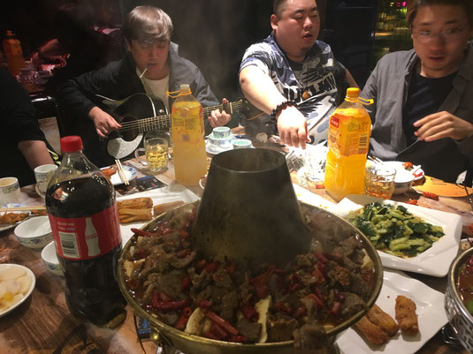 The local chefs and musicians of Urumqi.