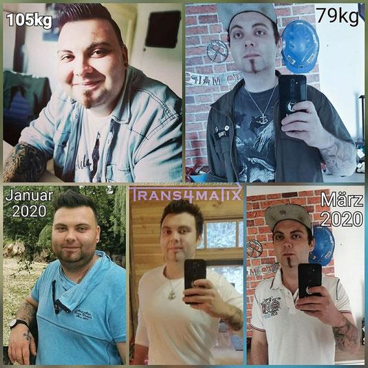 Der junge Mann hat in nur 3 Monaten 26kg abgenommen