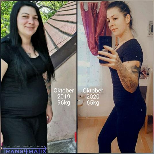 Schlussendlich hat sie es geschafft 31kg abzunehmen und dafür hat sie jeglichen Respekt verdient  Wir gratulieren