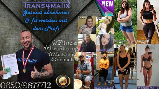 Gesundheit Abnehmen Fitness Ernährung Motivation Trans4matix jetzt auch in Ferlach