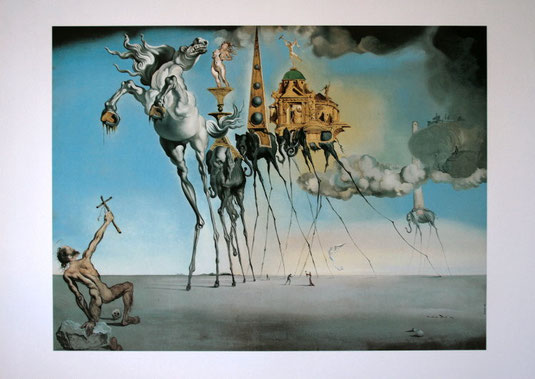 La tentation de Saint Antoine - Lithograph of Salvador DALI