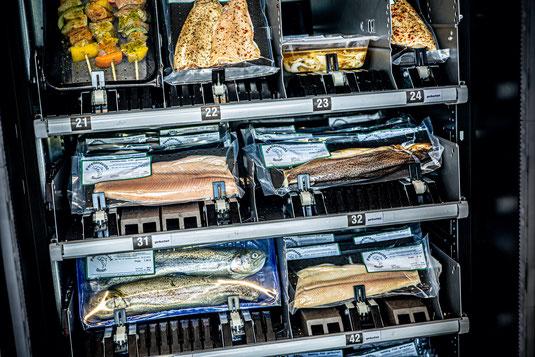 Weiher Fischzucht Fisch Wasser Forellenzucht Simon Fischer Forellen Forellomat Forell-o-mat Verkaufsautomat Direktvermarktung Automat