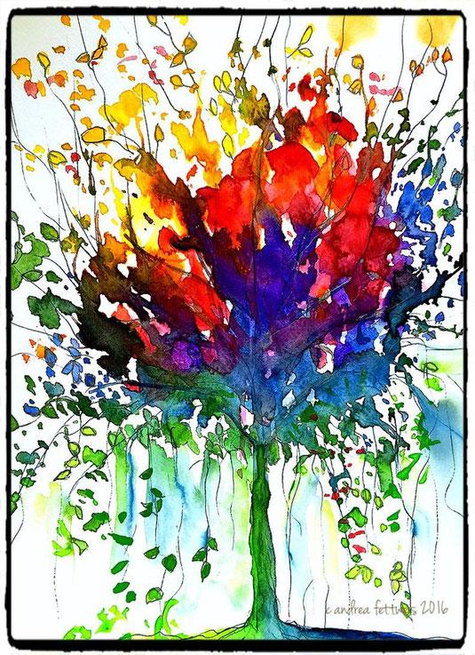 Baum in Fantasiefarben