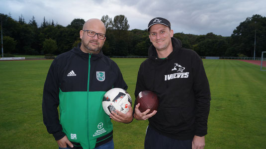 Sven Reinke (Trainer SCS) und Jan Tiessen (Headcoach Wolves)