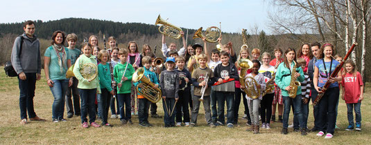 ... alle drei Orchester haben ein Wochenende lang intensiv geprobt ...