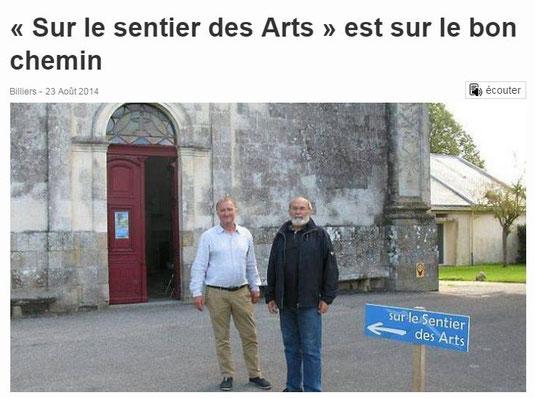 Sur le Sentier des Arts à Billiers