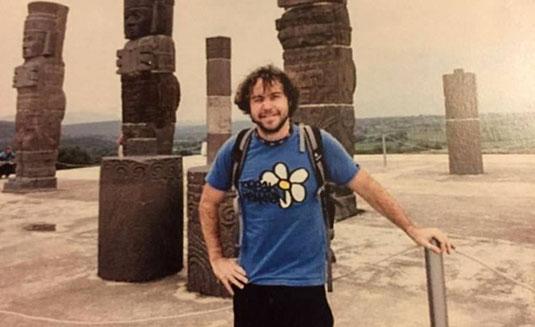 Borja Lázaro, en uno de sus viajes. Familia de Borja Lázaro