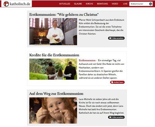 Auszug aus der Seite www.katholisch.de vom 10.04.2018