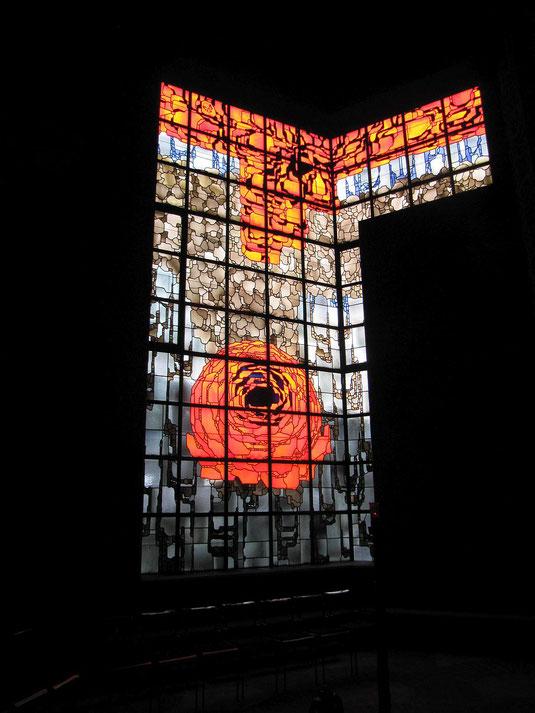 Das Rosenfenster im Mariendom zu Neviges