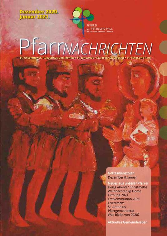Titelseite der Pfarrnachrichten Dez. 2020/Jan. 2021