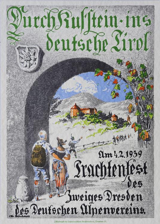 Werbeblatt der Sektion Dresden des DAV