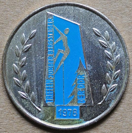 Treffen Junger Bergsteiger, Medaille von 1978