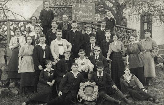 Stiftungsfest der Alpenbrüder, Foto von 1917