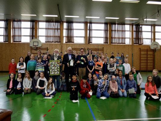 Die fleißigen Sammler der Grundschule Kleinlangheim (Foto: GS Kleinlangheim)