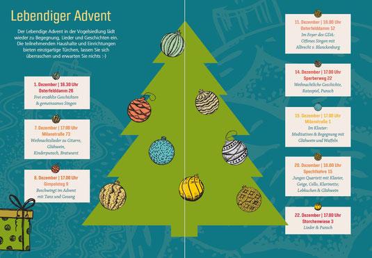Übersicht Termine Lebendiger Advent