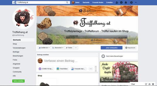 """Juni 2019 - Unsere Facebook Website Trüffelhang.at und Facebook Gruppe """"Trüffelliebhaber"""" geht online"""
