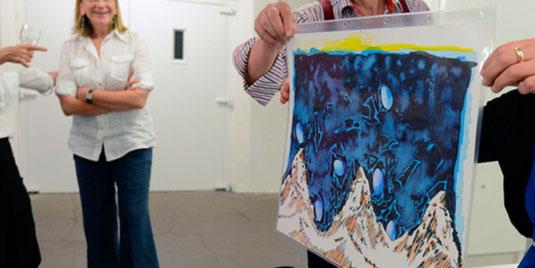Präsentation der Wunschbilder in der Galerie im Stammelbachspeicher, Hildesheim