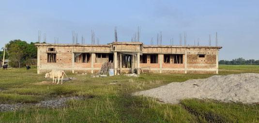 Aktueller Baustand des Wohnhauses für die Lehrer