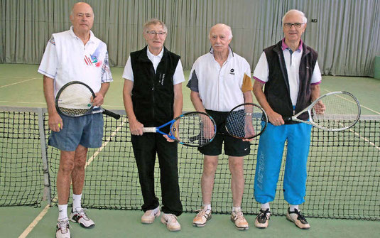 Willi Hauck, Horst Dier, Horst Fischer, Adolf Lampel (von links)
