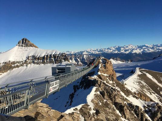 Hängebrücke Peak Walk Galcier 3000