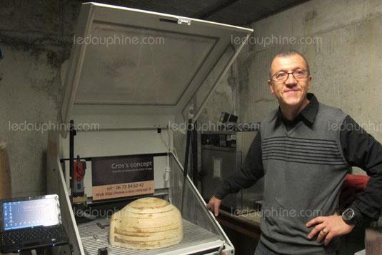 moule personnalisé pour une marmite en chocolat de 48cm de diamètre pour la fête de l'escalade à GENEVE