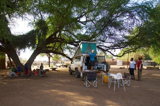Unser Übernachtungsplatz in Omorate