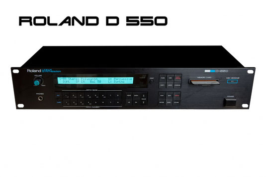 The Editor is also compatible with Roland D-550