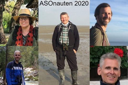 Die ASOnauten 2020 (Ursula Zinnecker-Wiegand, Pit Brützel, Sebastian Ludwig, Wolfgang Spatz, Tobias Laure (im Uhrzeigersinn))